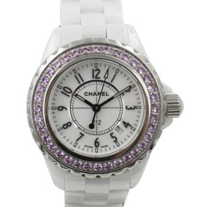 H1181 J12系列 原鑲粉紅剛玉錶圈