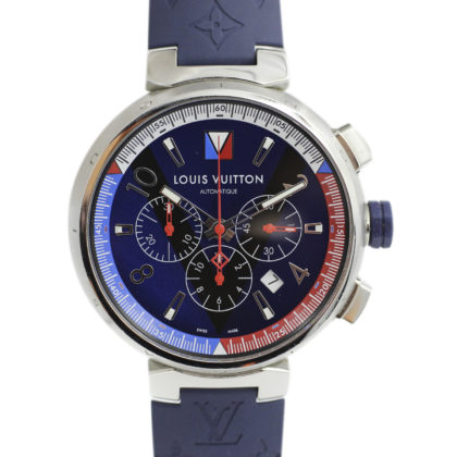 Louis Vuitton Q1A61 Tambour Leather Chronograph系列