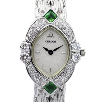 1E70-5A8A CREDOR CREDOR diamond emerald K18 solid 46g 50051206